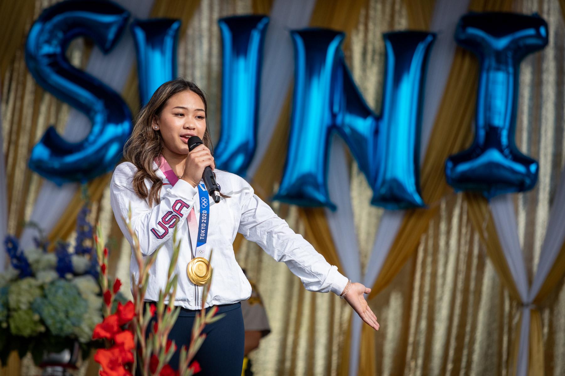 sahanjournal.com: Parade celebrates triumph of Hmong American Olympian Sunisa Lee